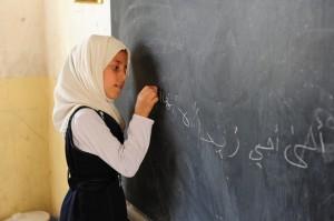 Irākas meitenīte hidžābā http://pixabay.com/en/girl-child-student-bebel-iraq-80327/