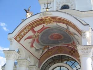 Pareizticīgo baznīca Krimā Malorečenskoje ciematā 2013. g. augustā. Attēls no E. Taivānes fotoarhīv