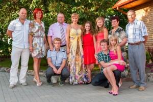 Tipiska lietuviešu ģimene (no E.Taivānes fotoarhīva)