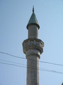 Mufti-Džami mošejas minarets Feodosijā. Krima 2013.g. Attēls no E.Taivānes fotoarhīva